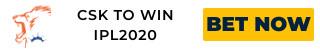 IPL2020 CSK ODDS