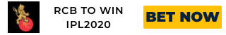 IPL2020 RCB ODDS