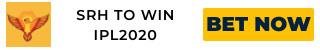 IPL2020 SRH ODDS