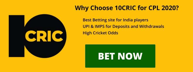 10CRIC CPL 2020 Betting