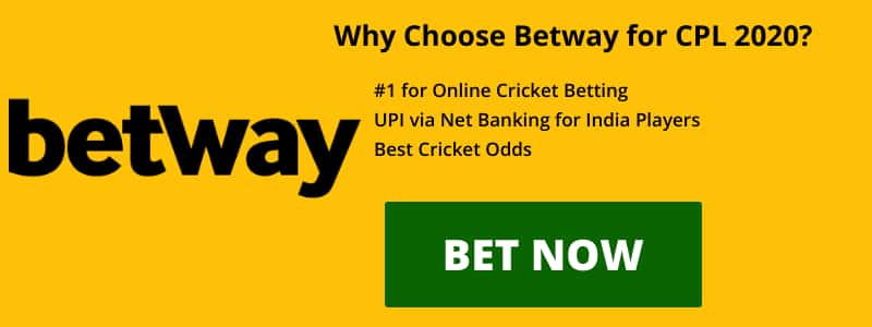 Betway CPL 2020 betting