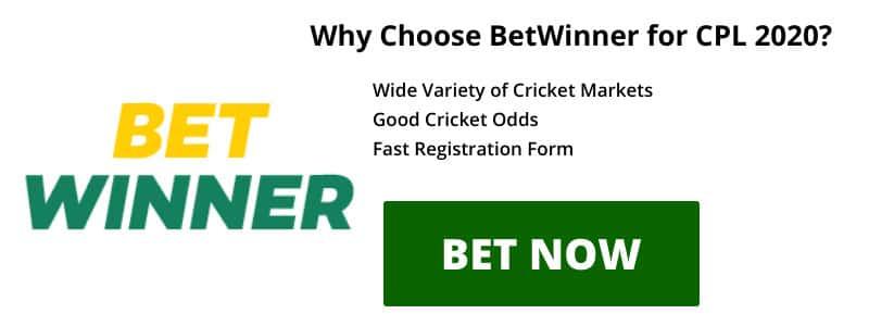Betwinner CPL 2020 betting