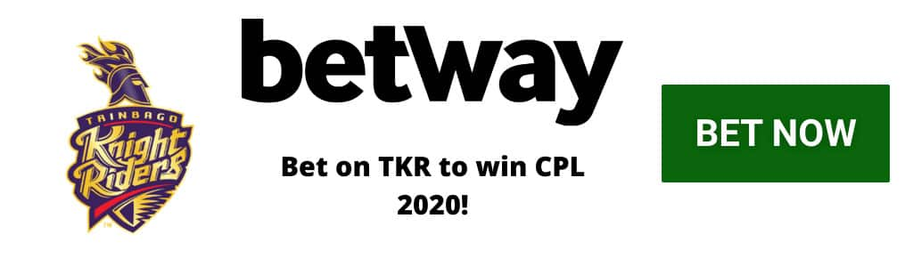 TKR CPL 2020 odds at Betway