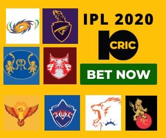 IPL2020 BETTING 10CRIC