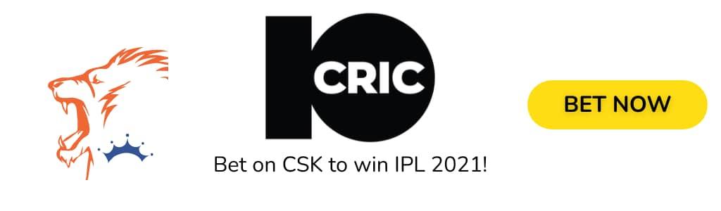 CSK IPL2021 ODDS