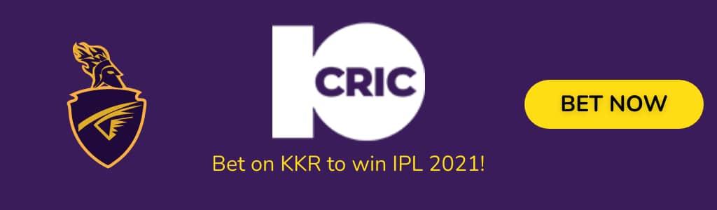 KKR IPL2021 ODDS