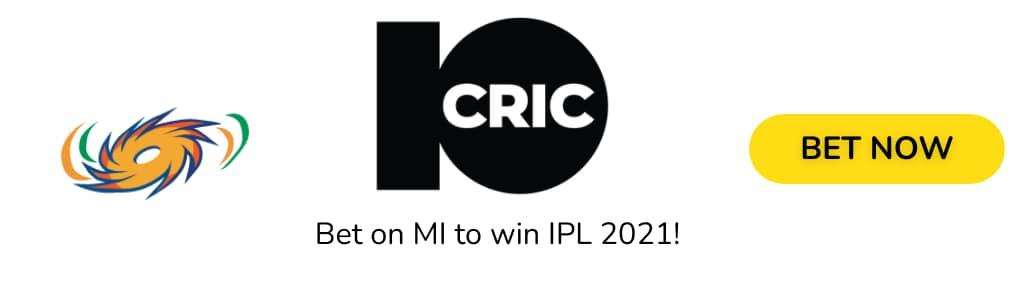 MI IPL2021 ODDS