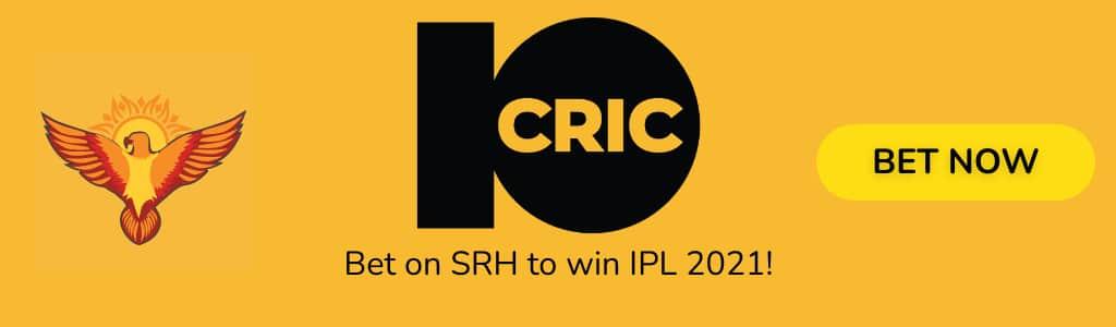 SRH IPL2021 ODDS