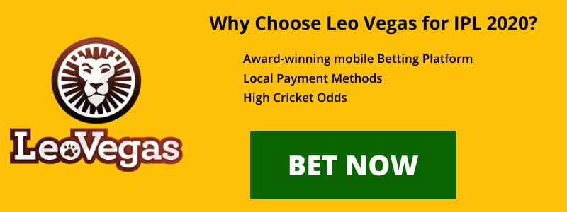 LEO VEGAS IPL2020 OFFER